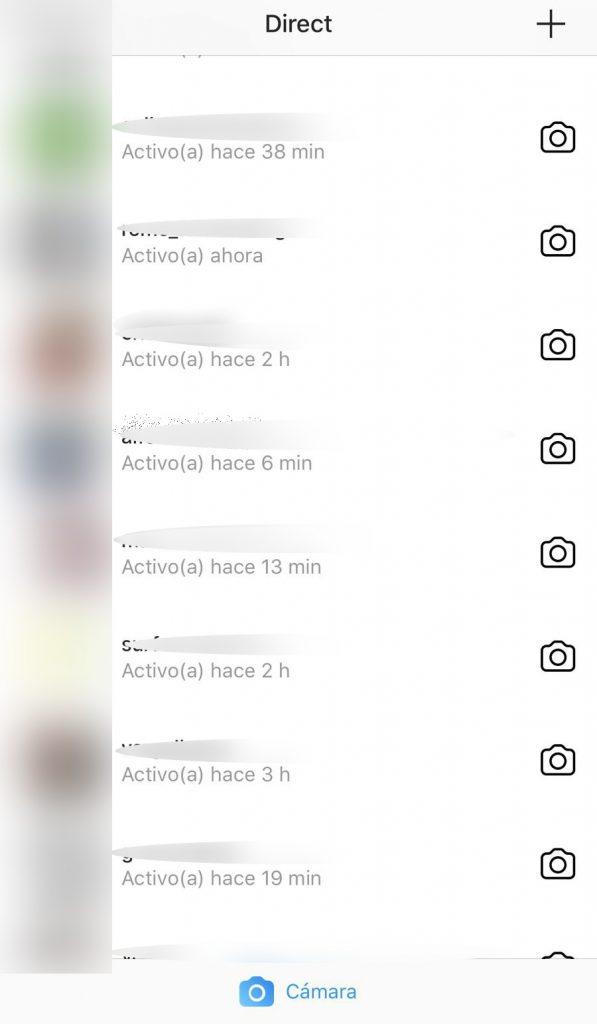 Ultima conexion instagram